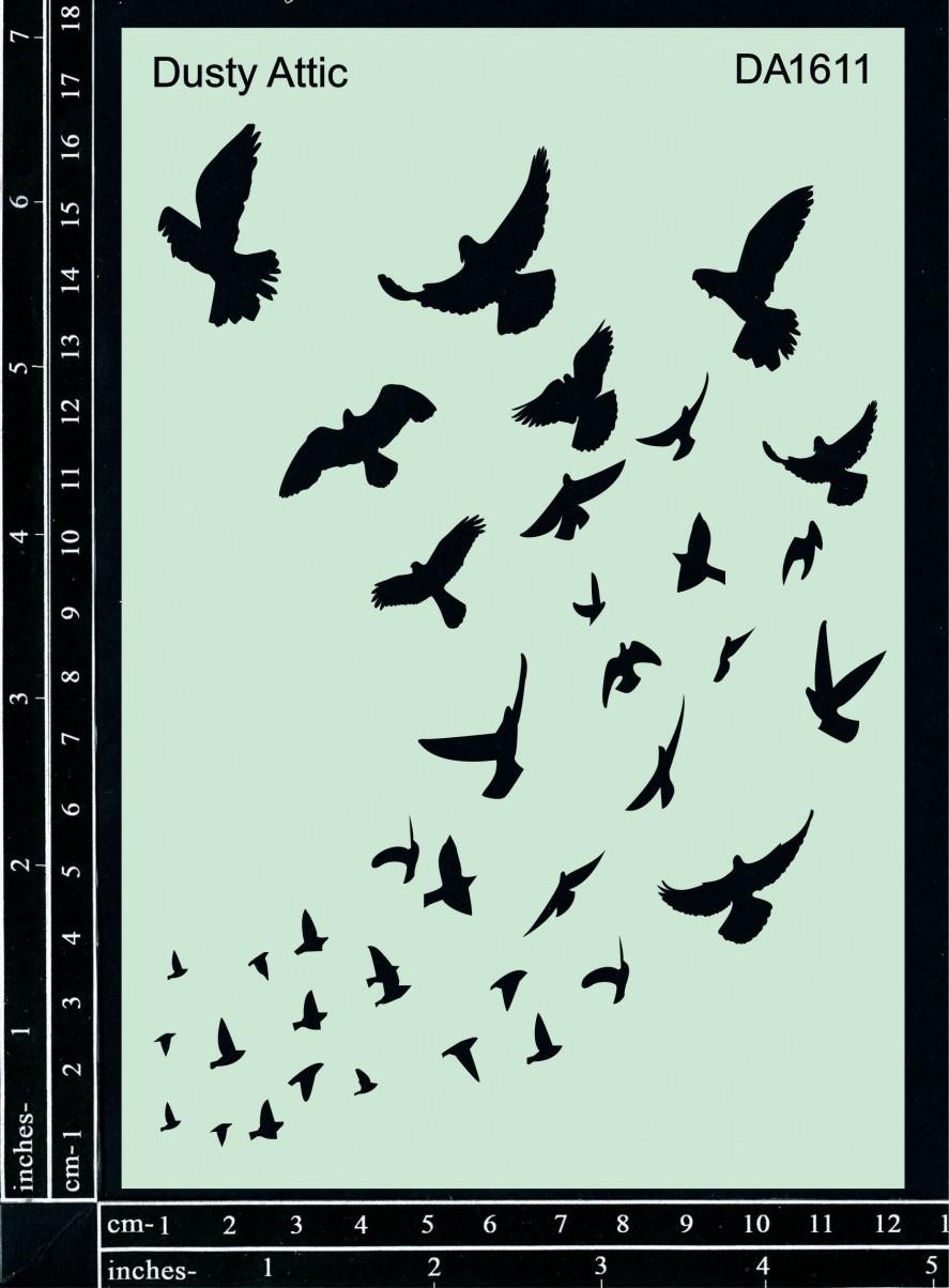 Stencil Birds