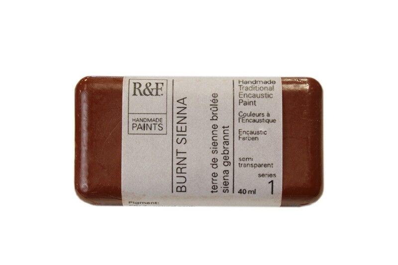 R&F Encaustic Paints 40ml - Burnt Sienna