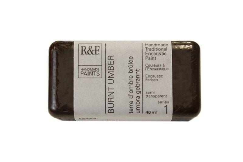 R&F Encaustic Paints 104ml - Burnt Umber