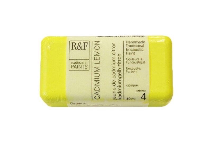 R&F Encaustic Paints 40ml - Cadmium Lemon
