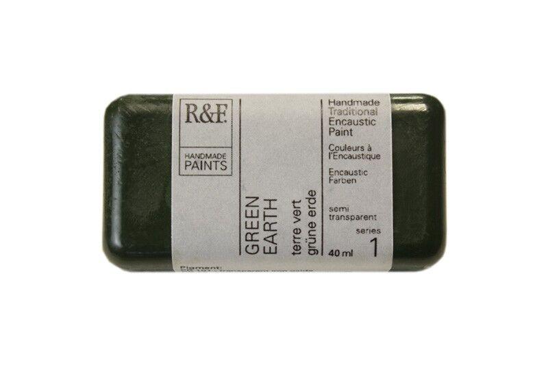 R&F Encaustic Paints 40ml - Green Earth