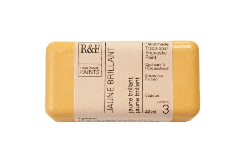R&F Encaustic Paints 40ml - Jaune Brilliant