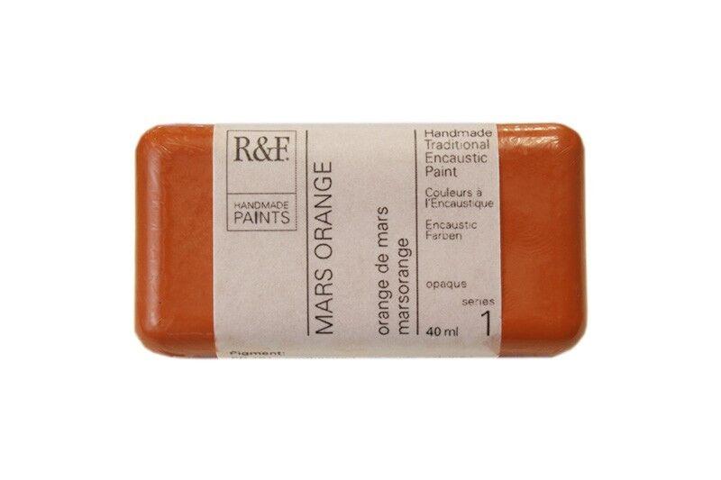 R&F Encaustic Paints 40ml - Mars Orange