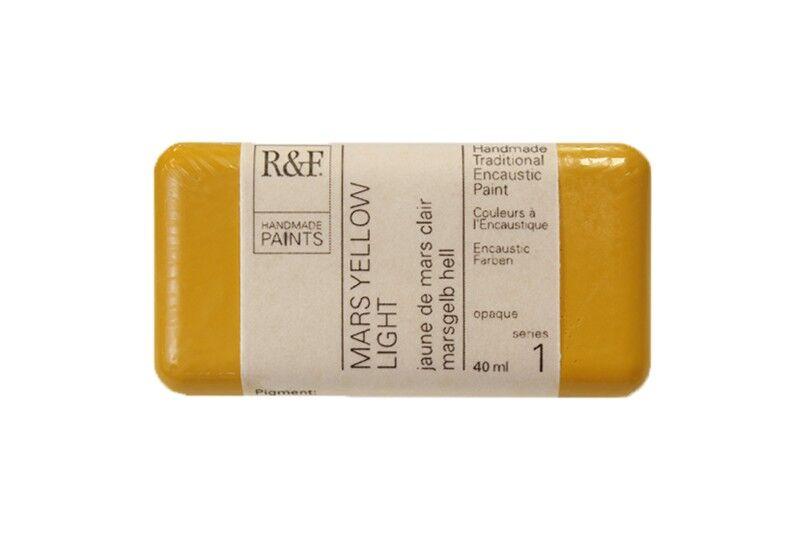 R&F Encaustic Paints 40ml - Mars Yellow Light