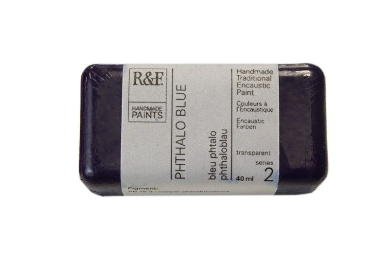 R&F Encaustic Paints 40ml - Phthalo Blue