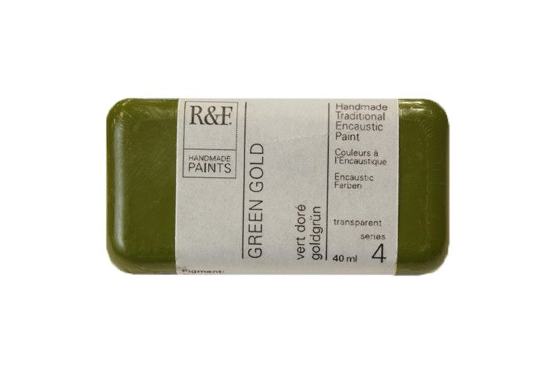 R&F Encaustic Paints 40ml - Green Gold