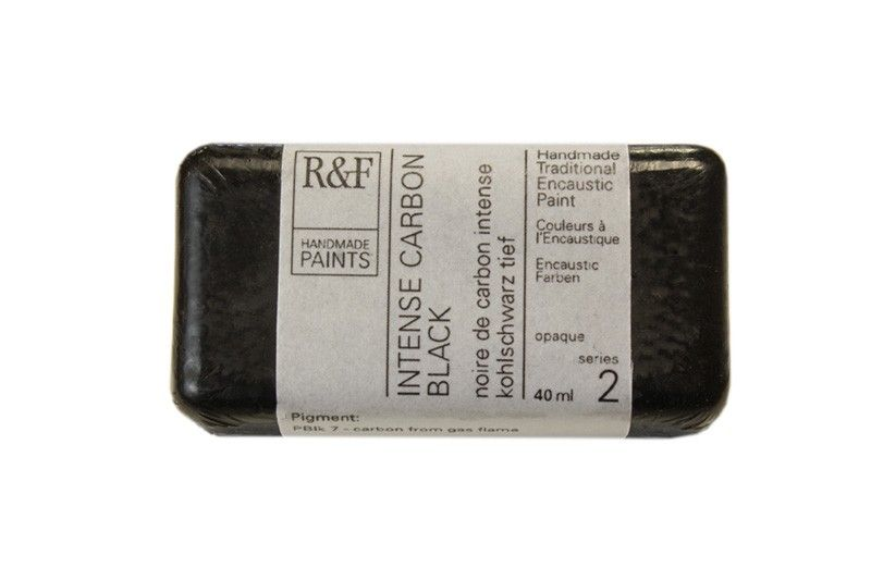 R&F Encaustic Paints 40ml - Intense Carbon Black