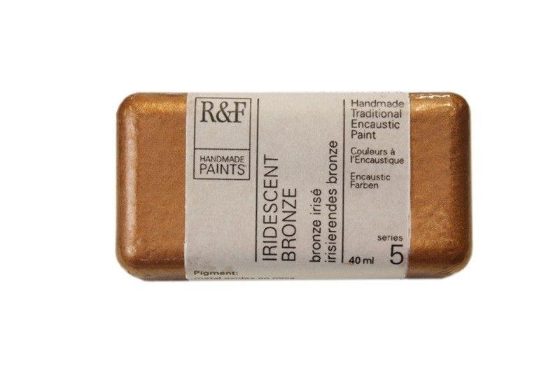 R&F Encaustic Paints 40ml - Iridescent Brass