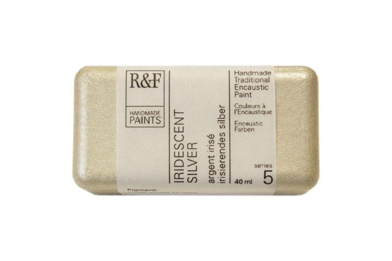R&F Encaustic Paints 40ml - Iridescent Silver