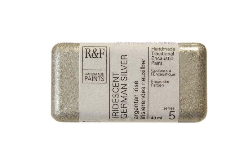 R&F Encaustic Paints 40ml - Iridescent German Silver