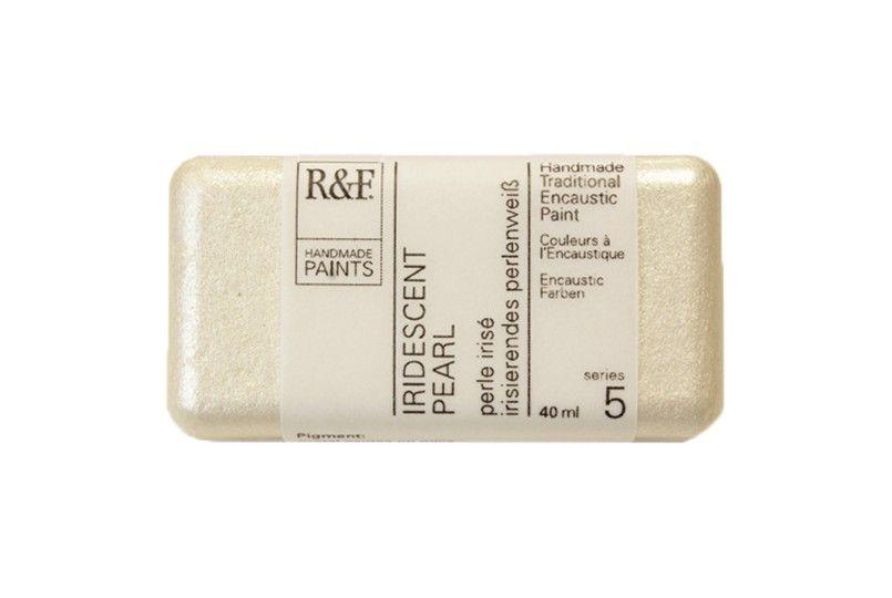 R&F Encaustic Paints 40ml - Iridescent Pearl