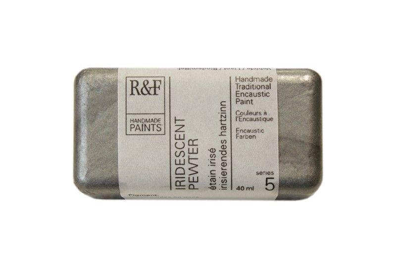R&F Encaustic Paints 40ml - Iridescent Pewter