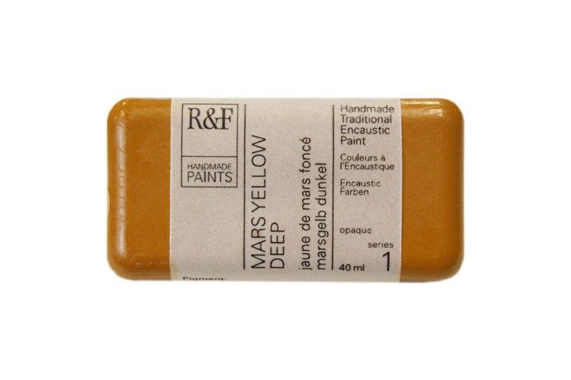 R&F Encaustic Paints 40ml - Mars Yellow Deep